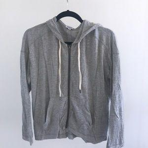 Splendid zip up grey hoodie